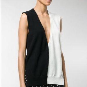 Haider Ackermann knit monochrome sleeveless top